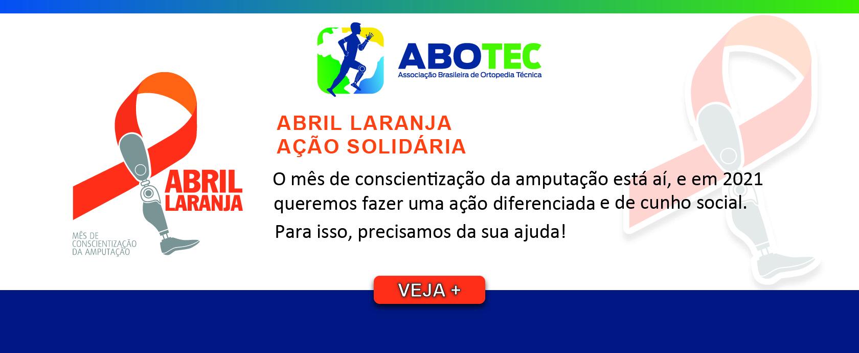 AÇÃO SOLIDÁRIA - ABRIL LARANJA - 2021!