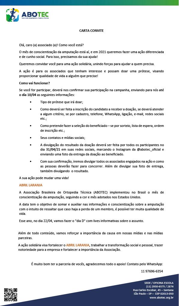 CAMPANHA ABRIL LARANJA - 2021!