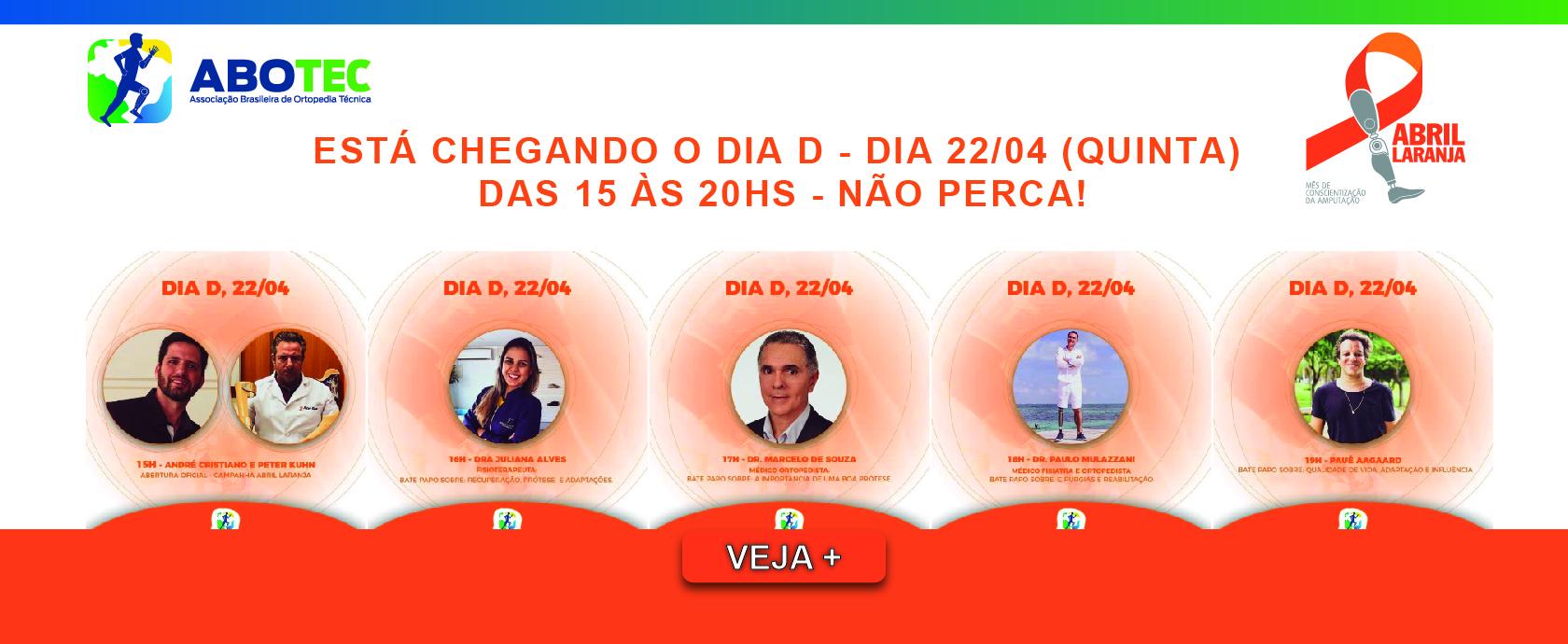ESTÁ CHEGANDO O DIA D - DIA 22/04 (QUINTA)  DAS 15 ÀS 20HS - NÃO PERCA!